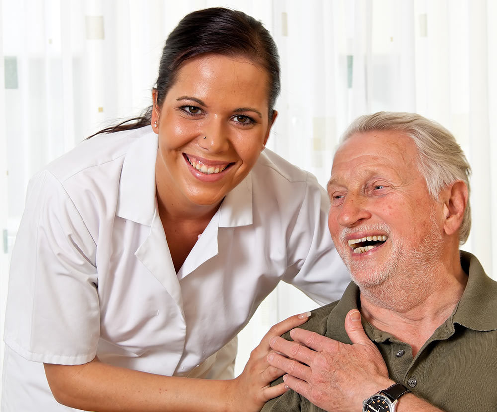 Nurse with retired senior